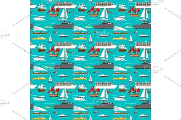 Sea transport pattern vector.