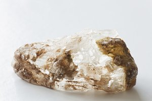 Stone quartz on white background