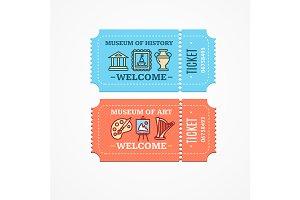 Museum Tickets Set