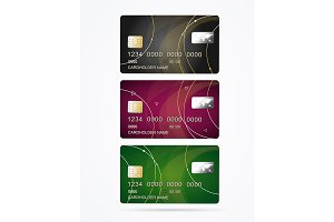 Vip Credit Plastic Cards Set.