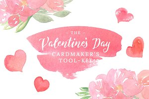 Valentine's Day Card Design Kit