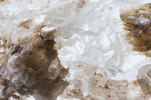 Stone quartz on white background.