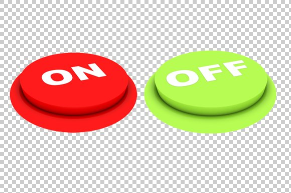 On Off Buttons - 3D Render PNG ~ Graphics ~ Creative Market