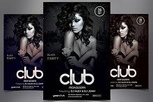 Club - Black PSD Flyer Template