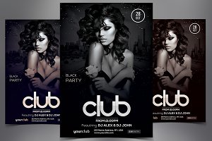 Club - Black PSD Flyer Template