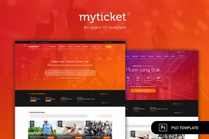 MyTicket - An Event Ticketing PSD