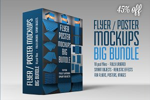 Flyer/Poster Mockups Big Bundle