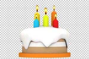 Cake - 3D Render PNG
