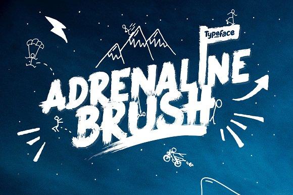 Adrenaline Brush Typeface