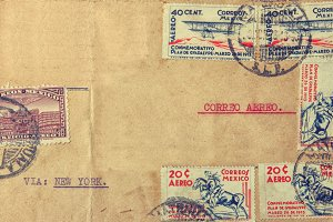 Vintage Mexican envelope of 1938