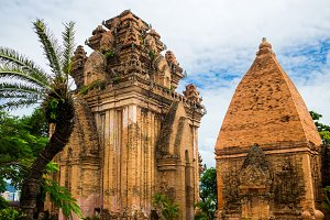 Brick cham towers Ponagar in Nha Trang, Vietnam