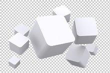 Cubes - 3D Render PNG