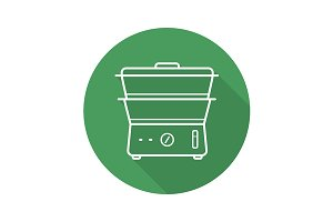 Steam cooker icon. Vector