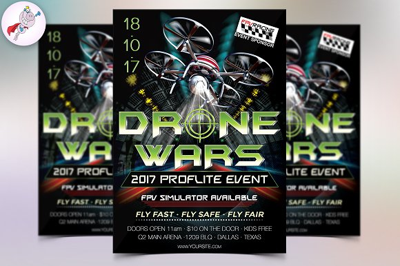 Drone Wars Flyer Template