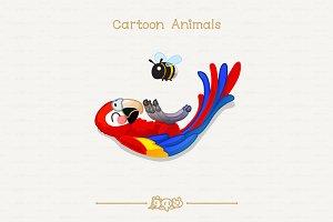 ♥ vector ara (macaw) & bumblebee