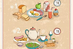 Breakfast vintage poster