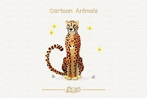 ♥ vector cheetah & butterflies