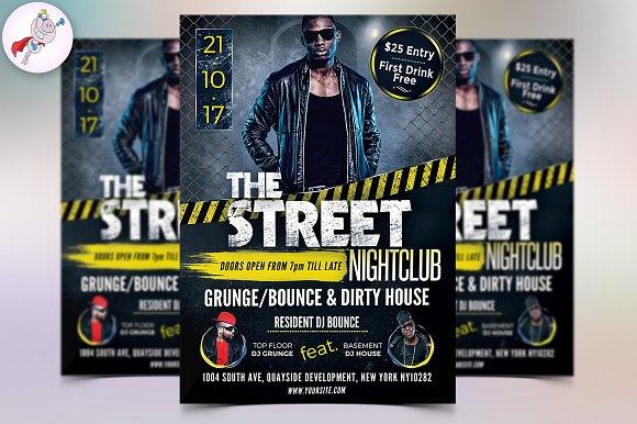 The Street Nightclub Flyer Template
