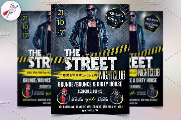 Street Party Flyer Template Flyer Templates Creative Market