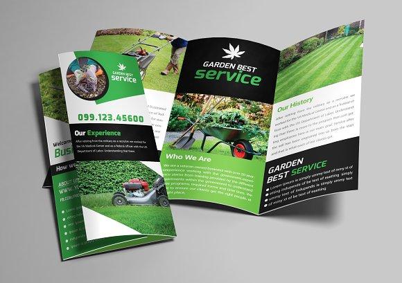 Garden Service Trifold Brochure