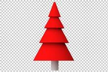 Christmas Tree - 3D Render PNG