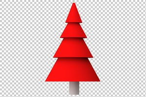 Christmas Tree - 3D Render PNG