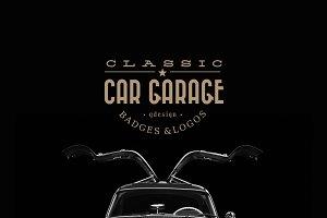 Classic Car Garage Badges & Logos