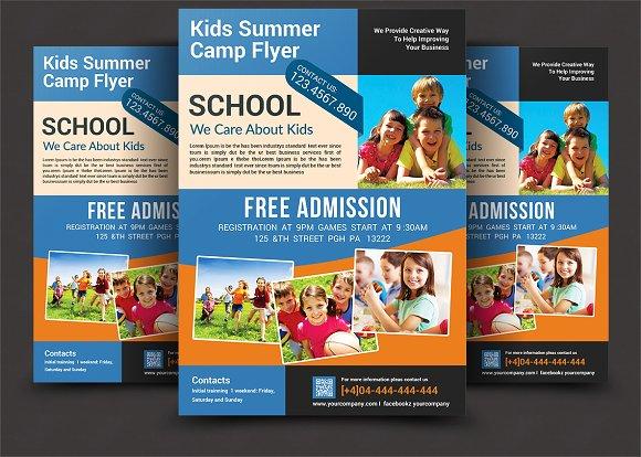 Kids Summer Camp Flyer ~ Flyer Templates ~ Creative Market