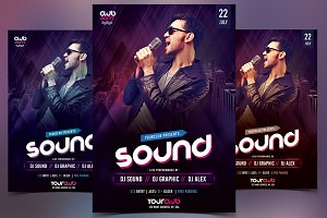 Sound - Club PSD Flyer Template