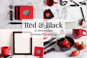 Red and Black Feminine Stock Bundle