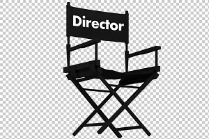 Director Chair - 3D Render PNG