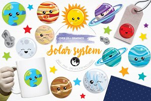 Solar system illustration pack