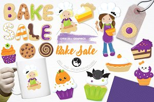 Bake sale illustration pack