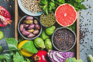 Fresh vegetables, fruits & seeds