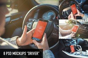 8 PSD Mockups Driver