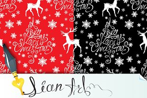 4 Seamless xmas patterns