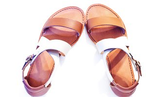 female leather sandals