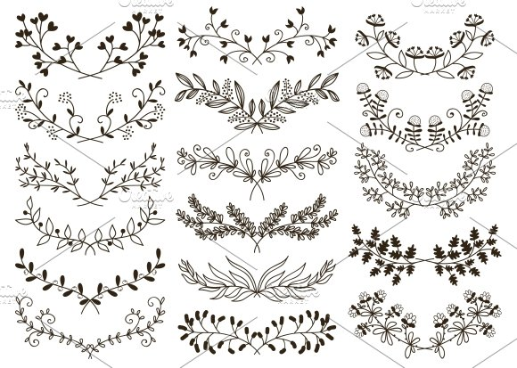 hand drawn floral illustrations creative market