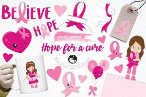 Hope for a cure illustration pack