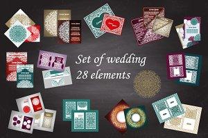 Set of wedding 28 elements
