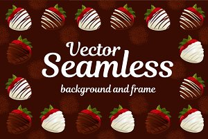 Strawberries in chocolate - Vector