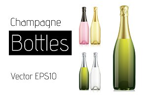 Vector Champagne Bottles