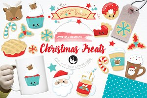 Christmas treats illustration pack