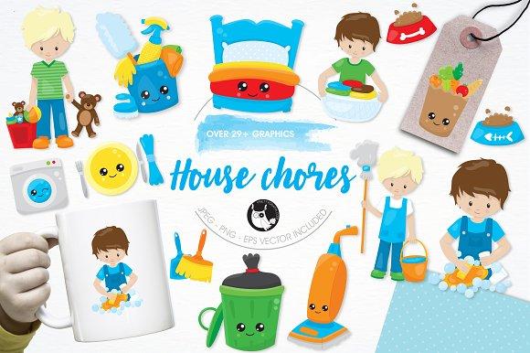 House Chores Illustration Pack