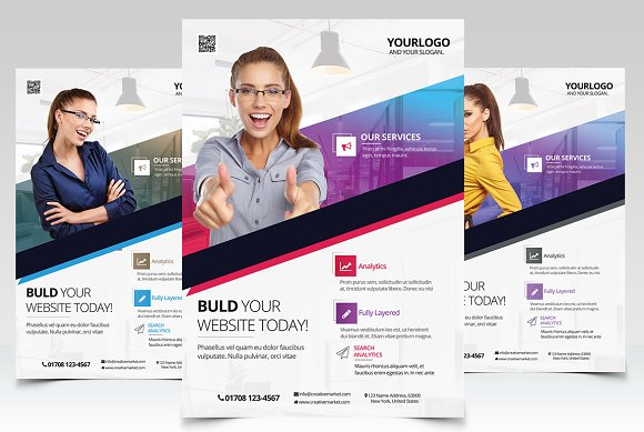 Business vol2 psd flyer template flyer templates creative market cheaphphosting Images