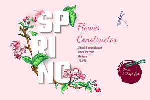 Apple Flowers Constructor