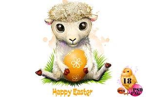 Happy Easter digital artwork set