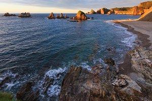 Gueirua beach, Asturias, Spain.