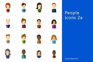 Minimalistic flat user icons 2a