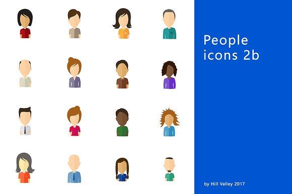 Minimalistic Flat User Icons 2b